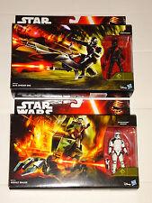 Star Wars - Stormtrooper Sergeant & Assault Walker + Elite Speeder Bike NEW SETS