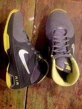 Nike Gray Volt Yellow Hi Top Sneakers Air Visi Pro 3 Size 7