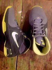 Nike Gray Volt Yellow Hi Top Sneakers Air Visi Pro 3 Size 7