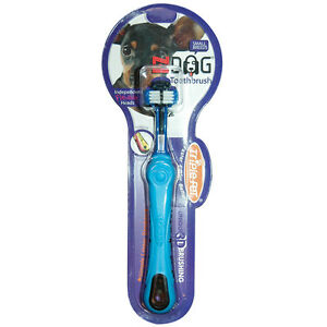 Fetch For Pets EZ Dog TOOTHBRUSH  Small or Large Breeds