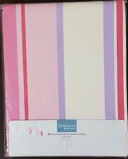 John Lewis Little Home Blackout Lined Pencil Pleat Curtain Finlay Stripe Pink