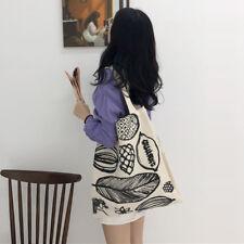 Women's 100% cotton Stylish Shopping Travel Canvas Tote Shoulder Bag Handbags