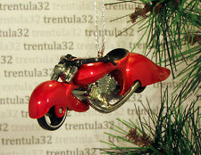 FATBOY MOTORCYCLE RED/.ORANGE CHOPPER CHRISTMAS TREE ORNAMENT XMAS