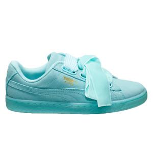 Puma Suede Heart Reset Women's Aruba Blue Casual Lifestyle Sneakers Shoes
