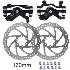Mechanical Disc Brakes Front Rear Caliper Mountain Bike Bicycle Rotor 160mm Set