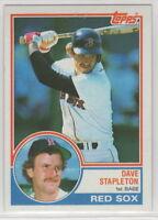 1983 Topps Baseball Boston Red Sox Team Set Boggs RC
