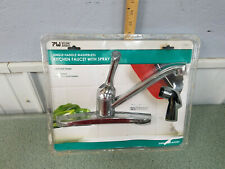"Nip Plumb Works Kitchen Single Handle Chrom Faucet 8"" Centerset Washerless Valve"