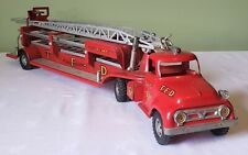Early Tonka Toys Ford Cab AERIAL LADDER FIRE TRUCK 50s V RARE NICE 100% ORIGINAL