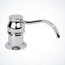 New Polish Chrome Kitchen Faucet Sink Soap Dispenser Pump Bath w/ 8oz Bottle