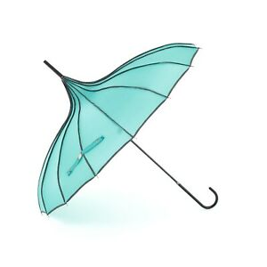 Soake Boutique RIBBED Pagoda Umbrella Teal