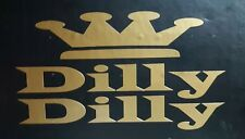 Dilly Dilly Beer Decal / Sticker Metallic Gold