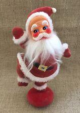 """Vintage Velveteen Santa Figurine 10"""""""