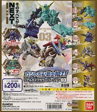 SD Gundam Warrior NEXT Real Color Ver.3 Gashapon Unicorn F91 Gundlander Set 6pcs