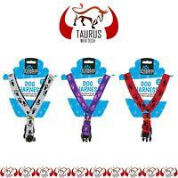 Dog Stylish PAW Safety Harness Small Puppy Walking Leads Pet Adjustable Strap UK
