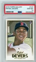 2018 Topps Gallery Rafael Devers #127 PSA 10 Rookie RC Boston Red Sox