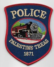 Train patch Palestine Police State Texas TX Colorful