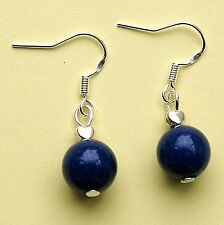 Lapis Lazuli Drop Earring with Sterling Silver Hooks New LB1259