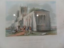 More details for print of john wesley preaching at epworth church, lincolnshire, r owen