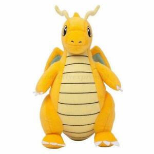 25CM Pokemon Dragonite Plush Soft Teddy Stuffed Animal Dolls Kids Toy UK