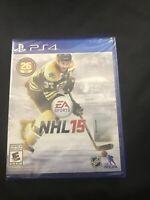 NHL 15 (Sony PlayStation 4, 2014) Factory Sealed