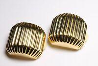 Joan Rivers Earrings Goldtone