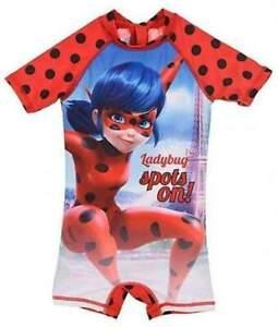 Miraculous Ladybug Girls Swimming Suit UV Protection