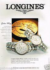 Publicité advertising 1995 Les Montres Longines Golden Wing