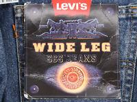 Vtg LEVI'S 565 Wide Leg Orange Tab Medium Wash Denim Jeans Mens 34x27 Husky NWT
