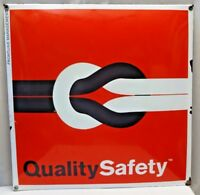 QUALITY SAFETY ELECTRIC CABLE WIRE ADVERTISE SIGN VINTAGE ENAMEL PORCELAIN CODE
