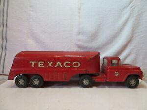 "Vintage Buddy L Texaco Pressed Steel FORD Tanker Truck Original Label 24"" Long"