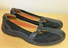 CLARKS UNSTRUCTURED CASUAL MARY JANE T-STRAP WOMEN'S 7N BLACK LEATHER