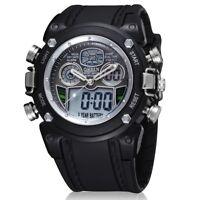 Men Waterproof OHSEN Digital LCD Alarm Sport Rubber Army Quartz Date Wrist Watch