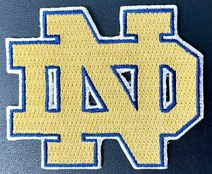 Notre Dame Fighting Irish  Logo Jersey Iron On Patch Football Team Embroidered