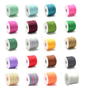 120m /Roll Polyester Cords Thread Beading String Craft Jewelry Making 0.6~0.7mm