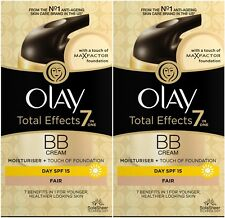 Olay Total Effects BB Cream 7in1 (2 x 50ml) (Fair) Moisturiser + Foundation