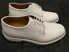 GIORGIO ARMANI Leather Lace-up Shoes White Size uk 7 eu 41