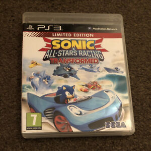 Limited Edition Sonic All-Stars Racing Transformed PS3 Game Boxed With Manual