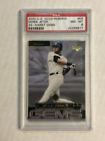 DEREK JETER 2000 U.D. Gold Reserve 22-KARAT GEMS SP! PSA NM-MT 8! YANKEES!