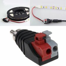 New Speaker Wire A/V Cable to Audio Male RCA Connector Adapter Jack Plug LED