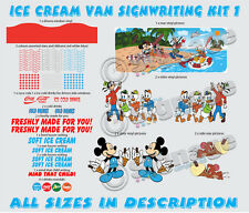 ice cream van sign writing kit 2, re style your van with our ready to go kits