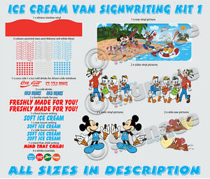 ice cream van sign writing kit 1, re style your van with our ready to go kits
