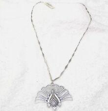 Lucky Brand Silver Peacock Necklace