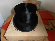 Vintage Woodrow of Piccadilly    Quality Black Silk Top Hat size 7 1/4