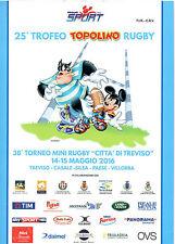 PROGRAMMA 25° TROFEO TOPOLINO RUGBY 2016 - TREVISO