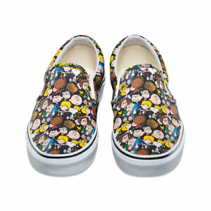 Vans x PEANUTS Slip-On Shoes (NEW) The Gang  SNOOPY Charlie Brown - MENS SIZE 12