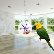New Pet Parrot Birds Cage Feeder Hanging Foraging Wheel Toys For sparrow<