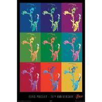 "ELVIS PRESLEY - 75TH ANNIVERSARY COLLAGE - 91 x 61 cm 36 x 24"" POSTER x"