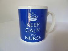 Keep Calm I'm a Nurse Gift Mug Cup In Carry On Style Blue Nursing Gift Mug Cup