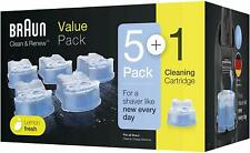 Braun Clean And Renew Ccr Cartridges Refill Pack, 5+1-Pack