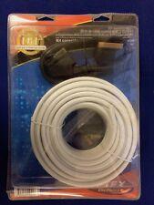 Kit cablage parabole : 20 m de cable coaxial péritel prises - NEUF